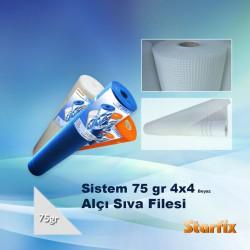Sistem 75gr 4x4 Beyaz Alçı Sıva Filesi